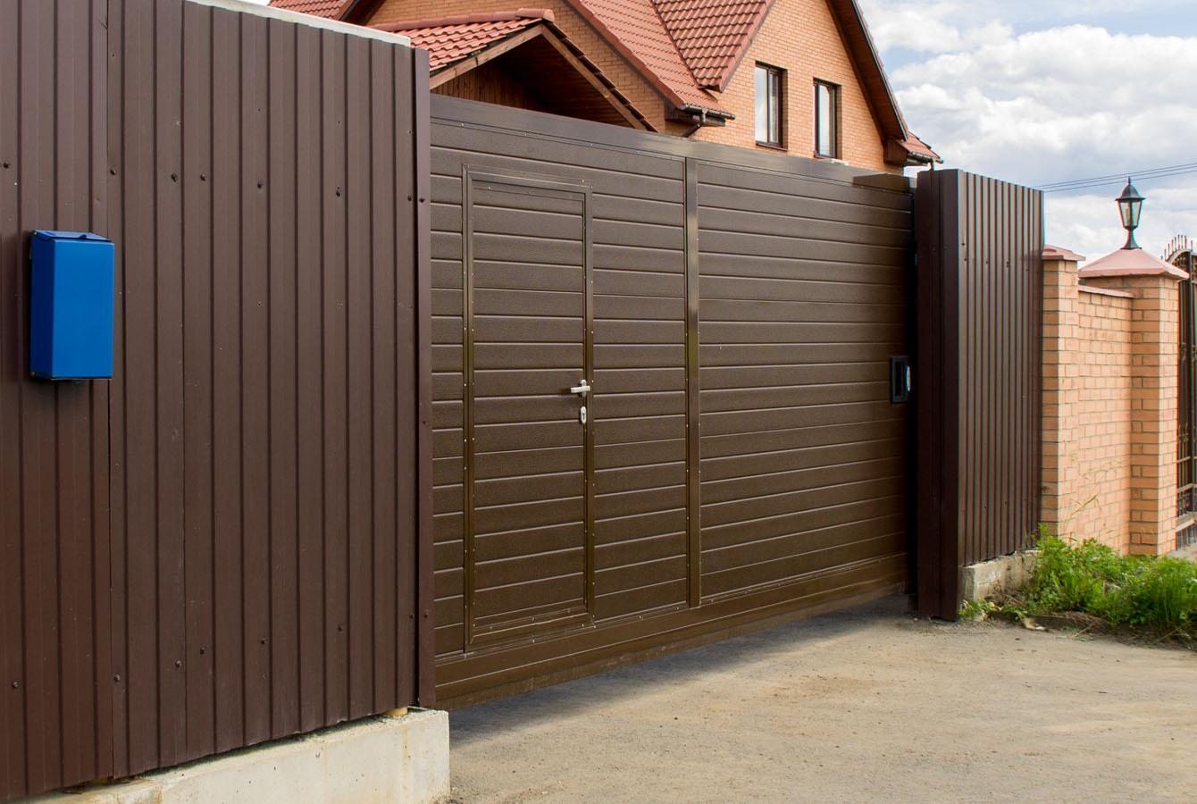 профессиональные услуги фото откатных ворот и калиток для